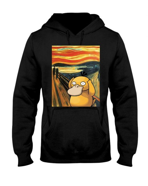 The Scream painting Koduck Pokemon Hoodie