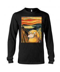 The Scream painting Koduck Pokemon Long sleeve