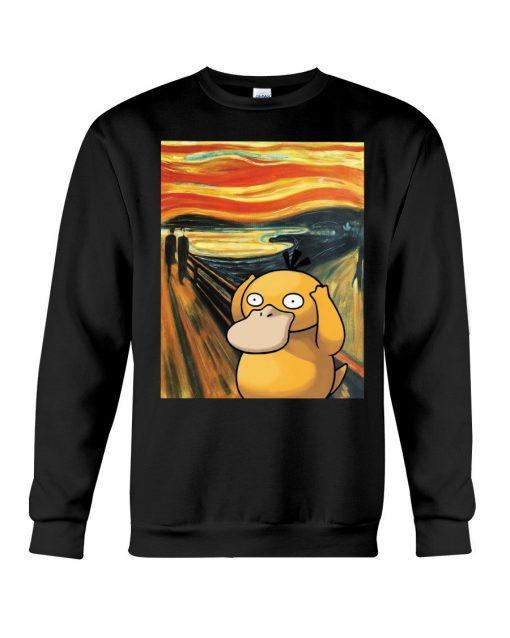 The Scream painting Koduck Pokemon Sweatshirt