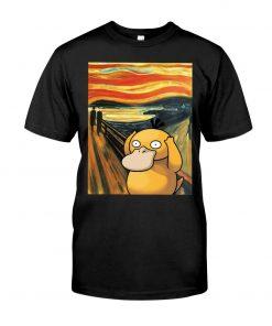 The Scream painting Koduck Pokemon T-shirt