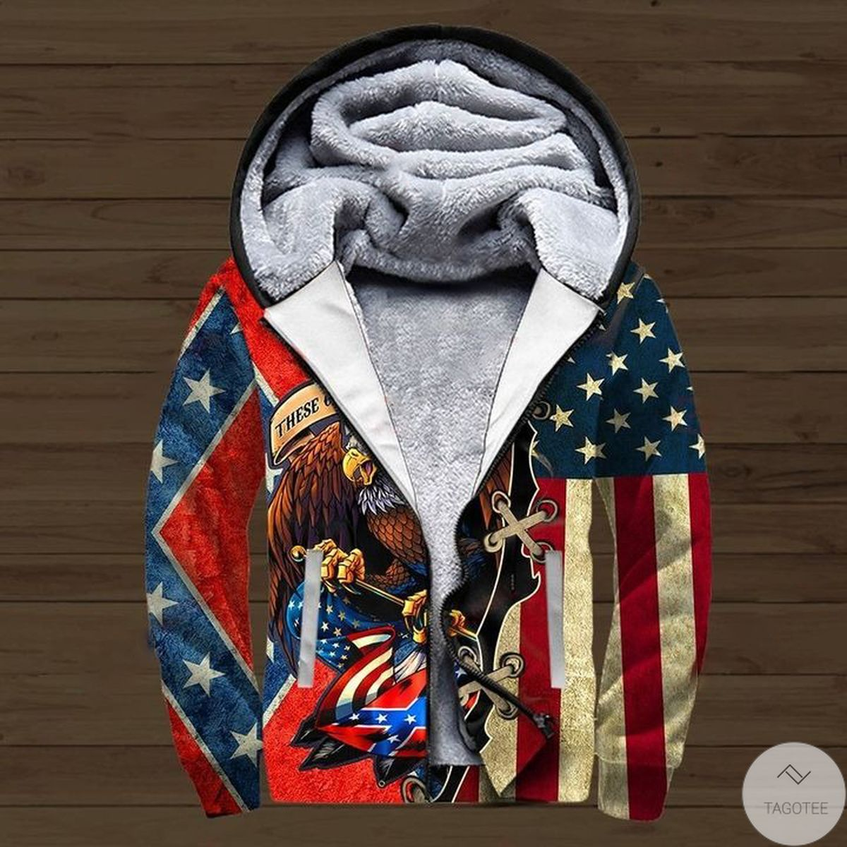These colors Don't run They reload Confederate flag 3D All Over Printed Zip Up Hoodie