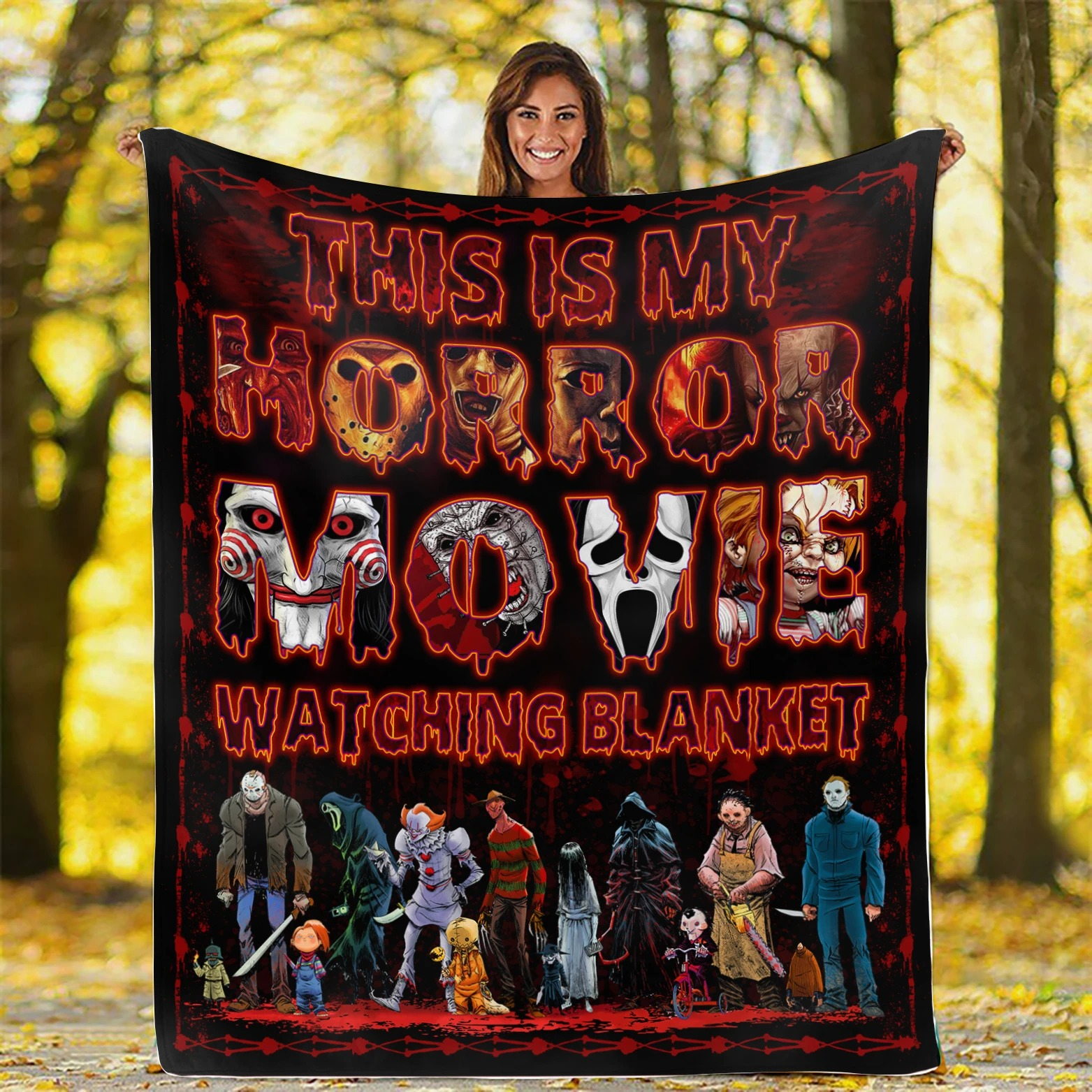 This Is My Horror Movie Watching Blanket 1