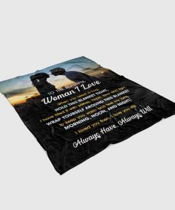 To the beautiful woman I love when you need a hug hold this blanket tight I have filled it with wishes, hope, love and light fleece blanket2