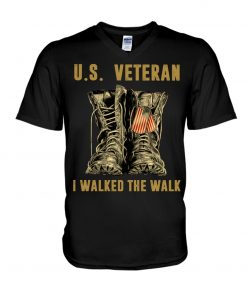 US Veteran I walked the walk v-neck