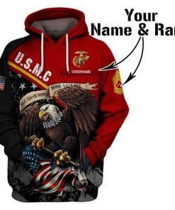 USMC All gave some some gave all personalized 3D all over print hoodie