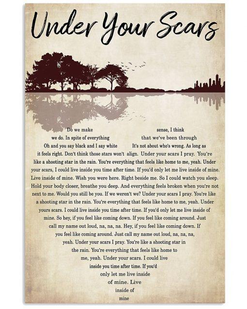 Under Your Scars Godsmack Lyrics Poster