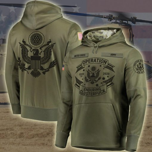 United States Army Operation Enduring Clusterfuck Personalized 3D hoodie