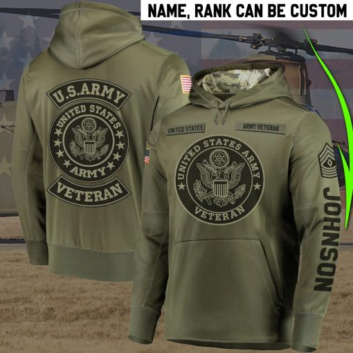 United States Army Veteran Personalized 3D hoodie