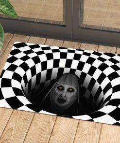 Valak Illusion 3D Hole Doormat 1