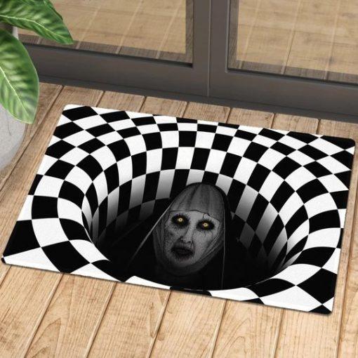 Valak Illusion 3D Hole Doormat 1