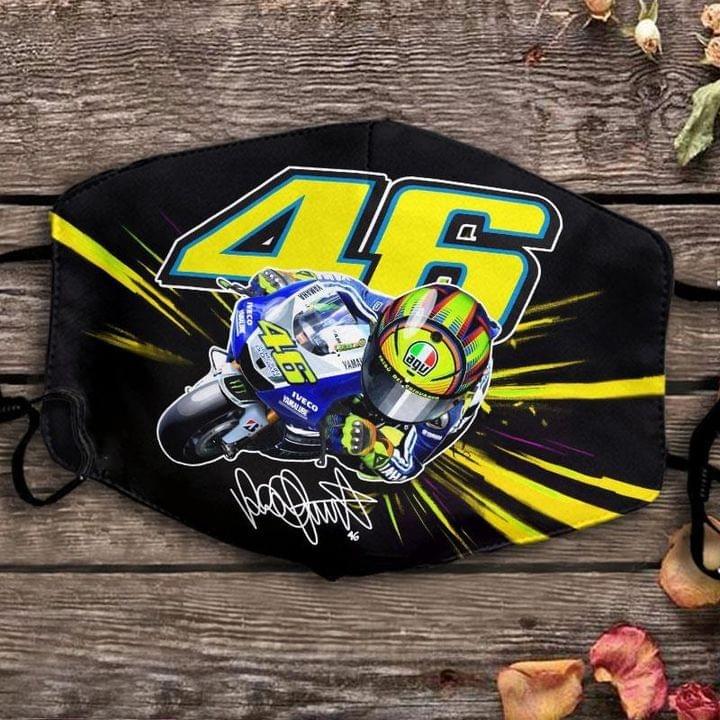 Valentino Rossi 46 signature face mask