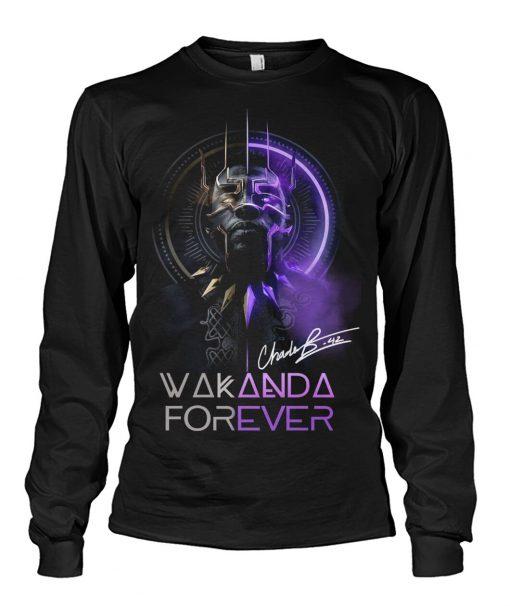 Wakanda Forever King Chadwick Boseman signature long sleeve