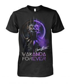 Wakanda Forever King Chadwick Boseman signature shirt