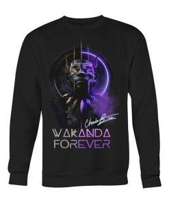 Wakanda Forever King Chadwick Boseman signature sweatshirt