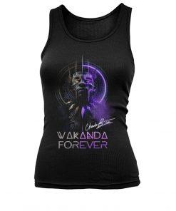 Wakanda Forever King Chadwick Boseman signature tank top