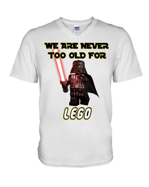We are never too old for Lego v-neck
