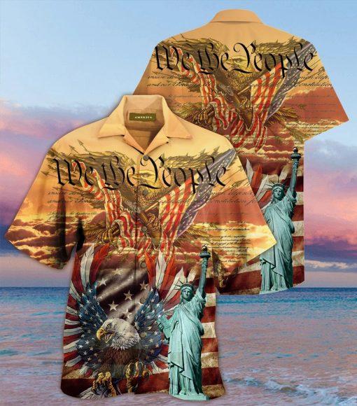 We the People American Flag Eagle Hawaiian Shirt 1