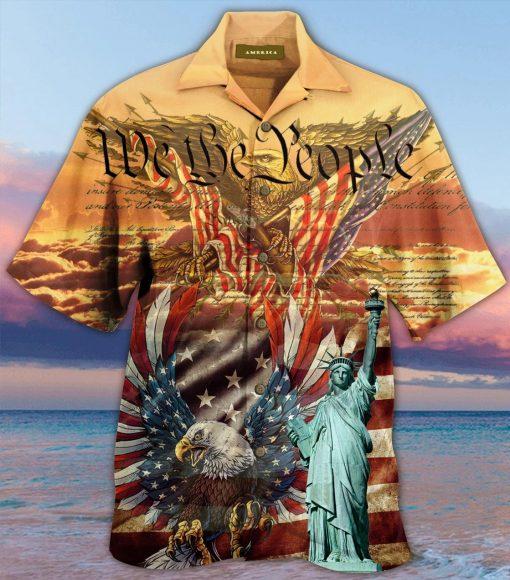 We the People American Flag Eagle Hawaiian Shirt