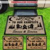 Welcome to our campsite personalized doormat