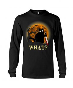 What Cat Halloween Knife Long sleeve