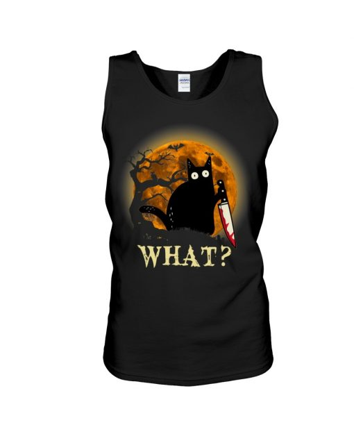 What Cat Halloween Knife tank top