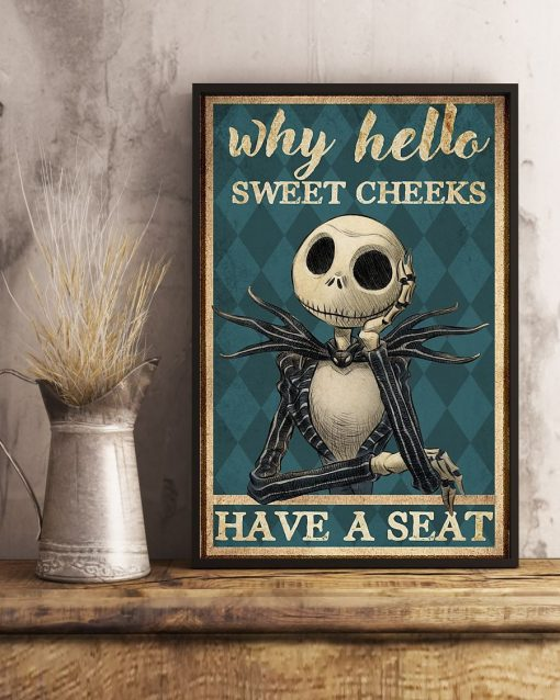 Why hello sweet cheeks have a seat Jack Skellington The Nightmare Before Christmas poster2