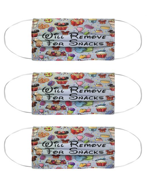 Will remove for snacks Disneyland face mask 2