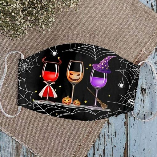 Witch Wine Glasses Halloween face mask