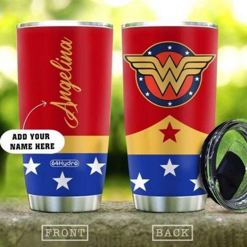 Wonder Woman Personalized Tumbler