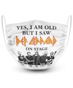 Yes I am old but I saw Def Leppard on stage face mask1