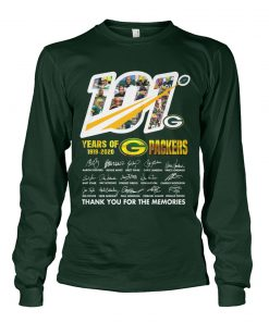 101 Years of Green Bay Packers 1919-2020 long sleeve