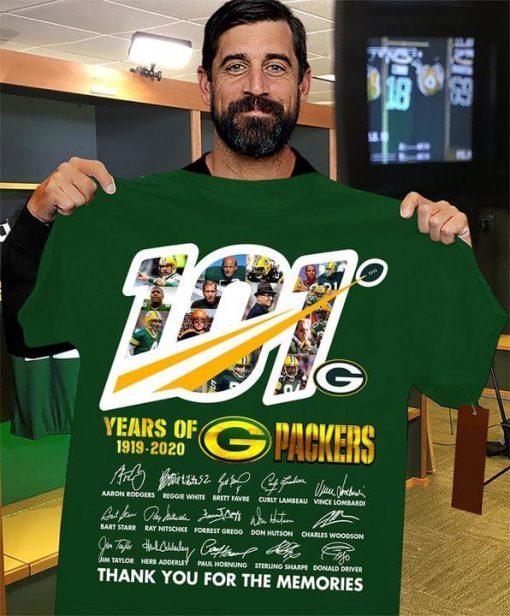 101 Years of Green Bay Packers 1919-2020 shirt 0