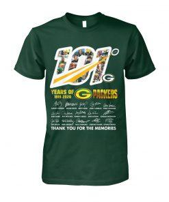 101 Years of Green Bay Packers 1919-2020 shirt