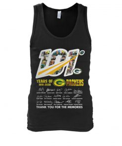 101 Years of Green Bay Packers 1919-2020 tank top