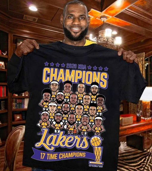 2020 NBA Champions Lakers 17 time champions shirt