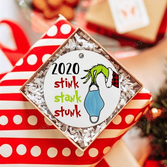 2020 Stink Stank Stunk Christmas Ornaments1