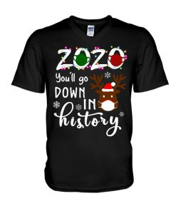 2020 You'll go down in history Christmas v-neck