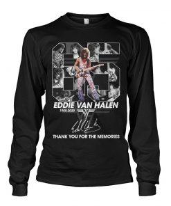 65 Years of Eddie Van Halen 1955-2020 thank you for the memories long sleeve