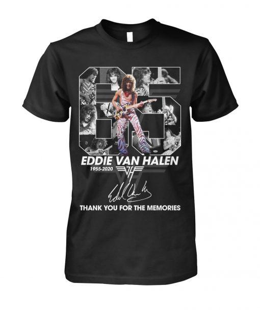 65 Years of Eddie Van Halen 1955-2020 thank you for the memories shirt