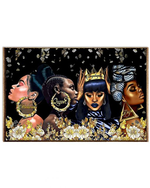 African American Melanin Queen Dape Unapologetically Dope Poster 1
