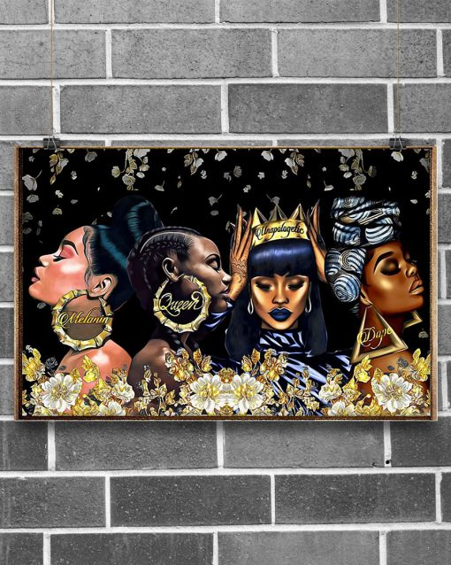 African American Melanin Queen Dape Unapologetically Dope Poster 4