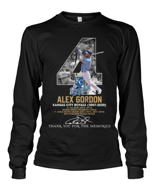Alex Gordon Kansas City Royals 2007-2020 Long sleeve