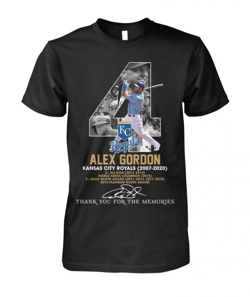 Alex Gordon Kansas City Royals 2007-2020 T-shirt