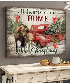 All Hearts Come Home for Christmas Horse gallery wrapped canvas 1