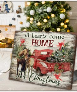 All Hearts Come Home for Christmas Horse gallery wrapped canvas 2