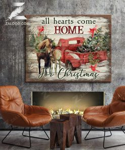 All Hearts Come Home for Christmas Horse gallery wrapped canvas