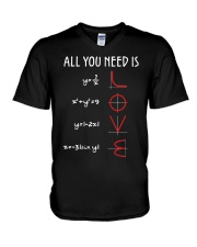 All You Need Is Love Math Functions v-neck