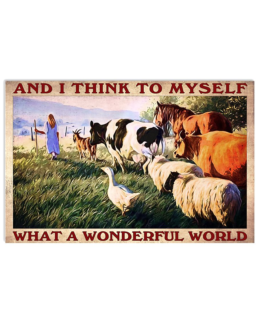 Hot Deal And I think to myself what a wonderful world Farm poster