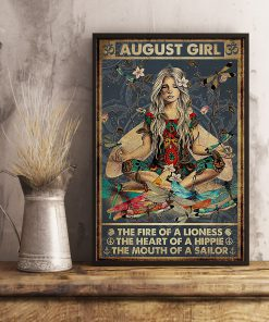 August Girl The fire of a lioness The heart of a hippie The mouth of a sailor poster 3