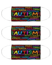 Autism Curious Intelligent Innocent Bright Honest Love face mask 0